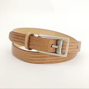 Calvin Klein Italian Lizard Calfskin skinny Belt